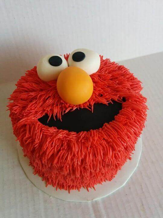 Elmo Cupcake Birthday Cake