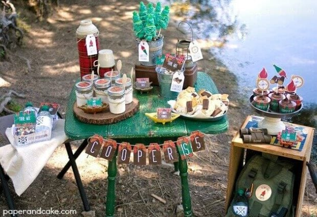 Rustic Camping Birthday Party