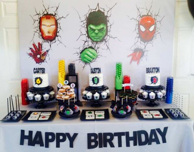Boys Super Hero Birthday Party