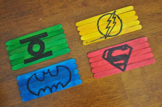 Justice League Popstick Crafts