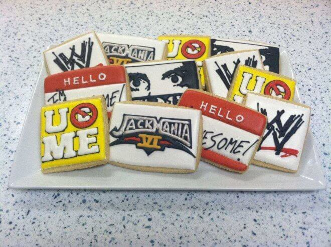 WWE Sugar cookies