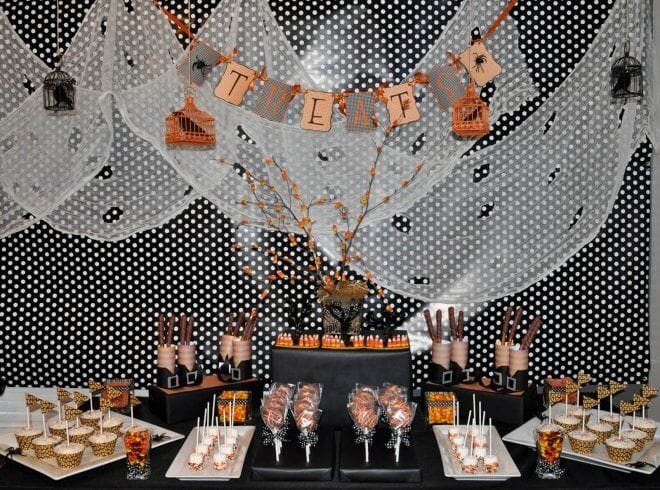 Black and Orange Birthday Party