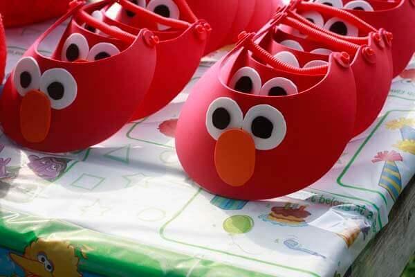 Elmo Party Visors