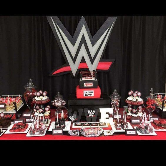 WWE Dessert Table