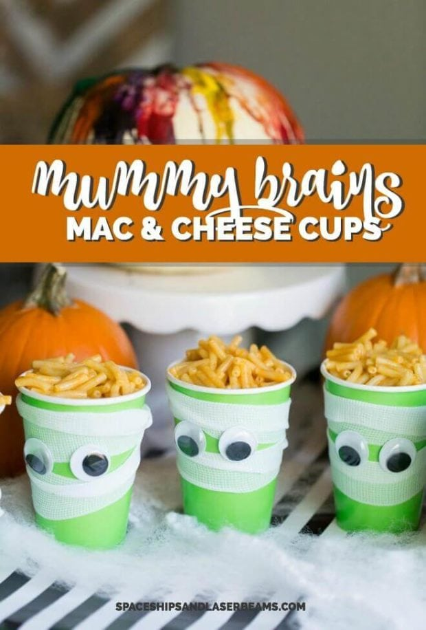 Mummy Brains Mac & Cheese Cups