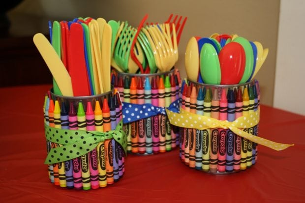 Crayon Utensil Holder
