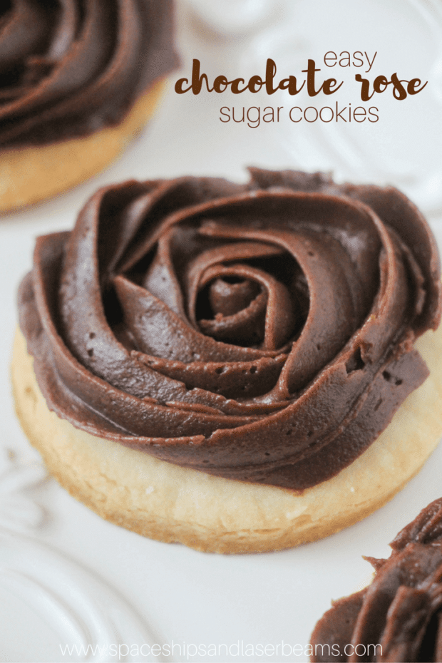 Chocolate Buttercream Rose Cookies