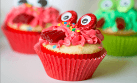 Cute Monster Cupcakes for Halloween