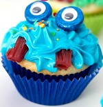Halloween Cute Monster Cupcakes