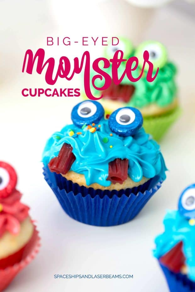Cute Halloween Monster Cupcakes