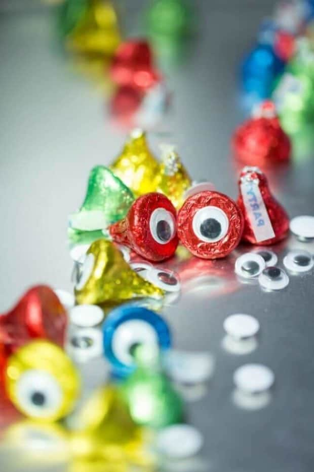 Hershey Kiss Monster Eyes