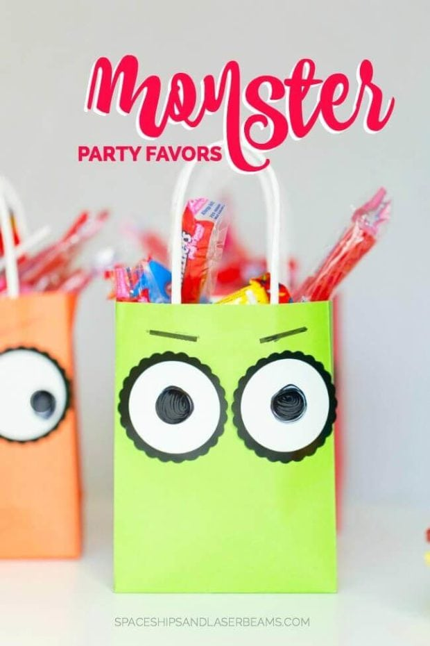 Monster Themed Favor Bags