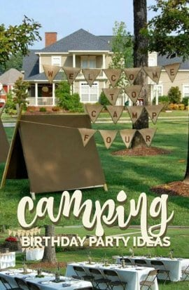 Boys Camping Birthday Party