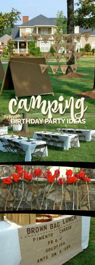 Boys Camping Birthday Party