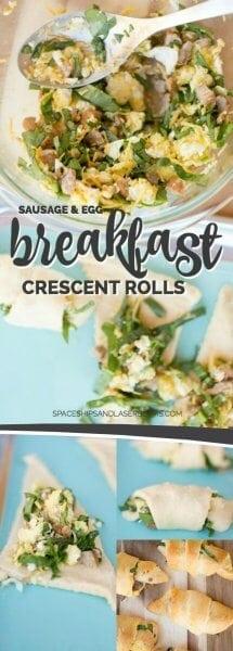 Sausage & Egg Breakfast Crescent Rolls