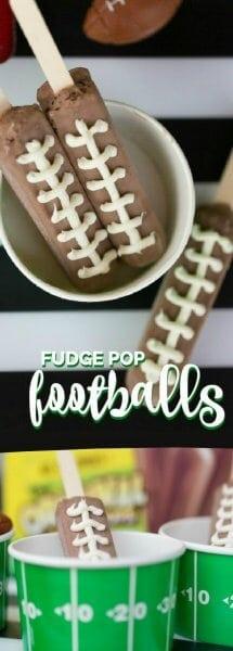 Football Party Food Ideas: Fudge Pop Footballs