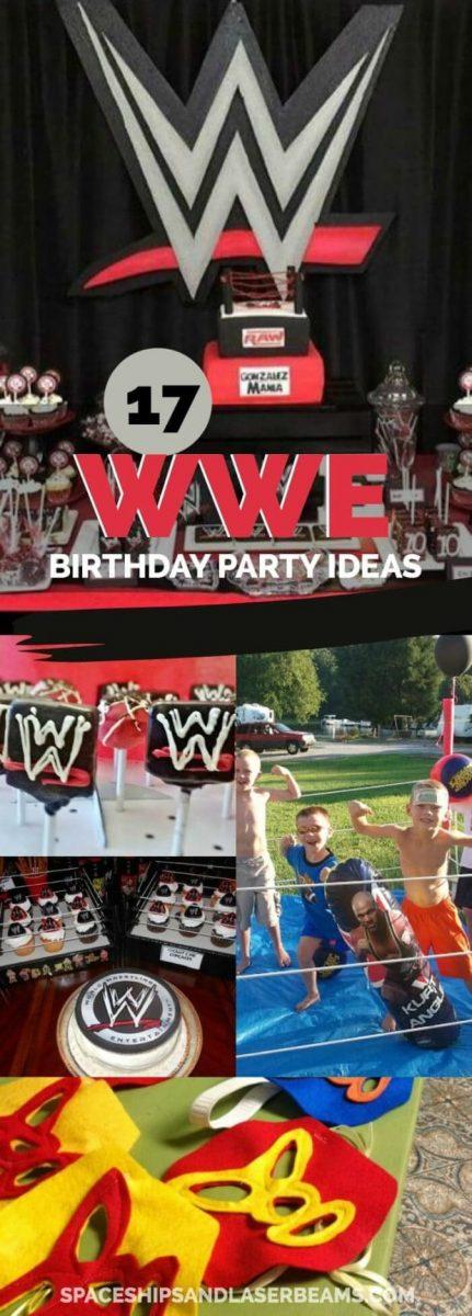 WWE Birthday Party Ideas