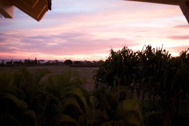 Sunset at Merriman's in Kauai