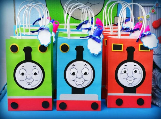 Thomas the train Favor bags