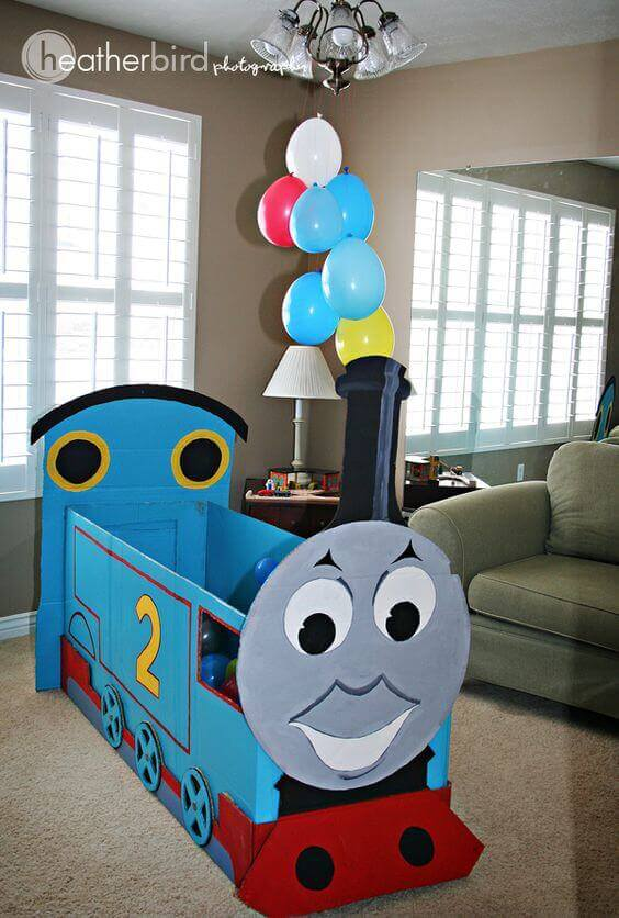 DIY Cardboard thomas the train
