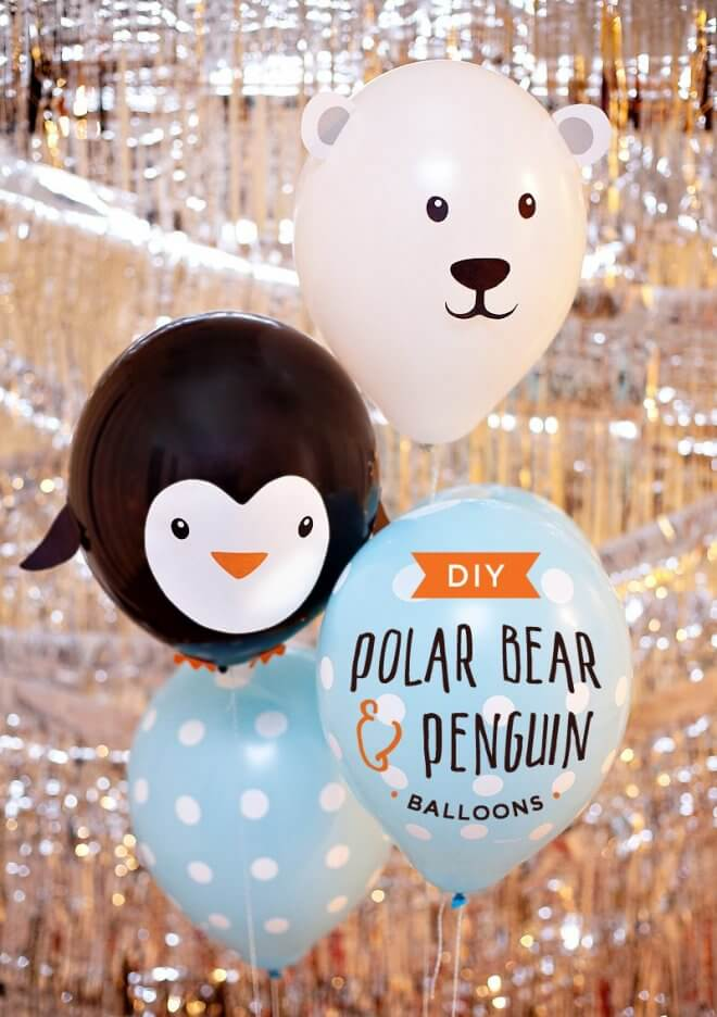 DIY Penguin and Polar Bear Balloons