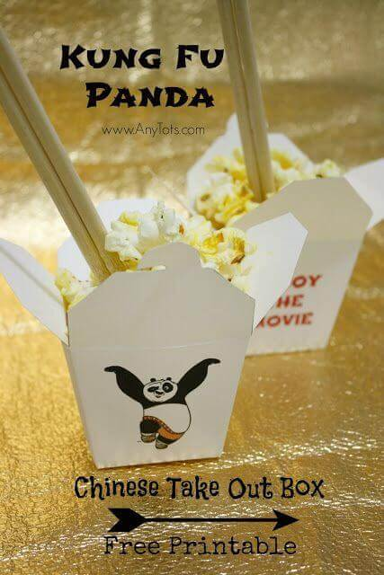Kung Fu Panda Take Out containers