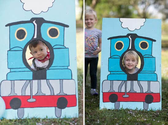 DIY Thomas the train photo prop