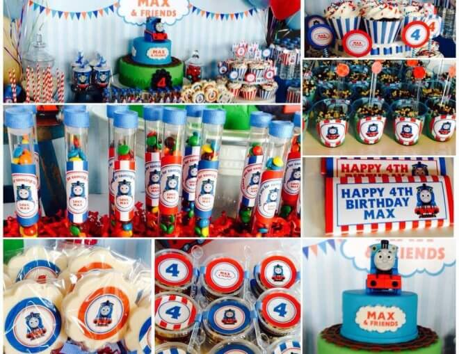 Thomas The Train Dessert Table