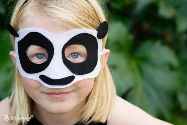 No Sew Panda Mask