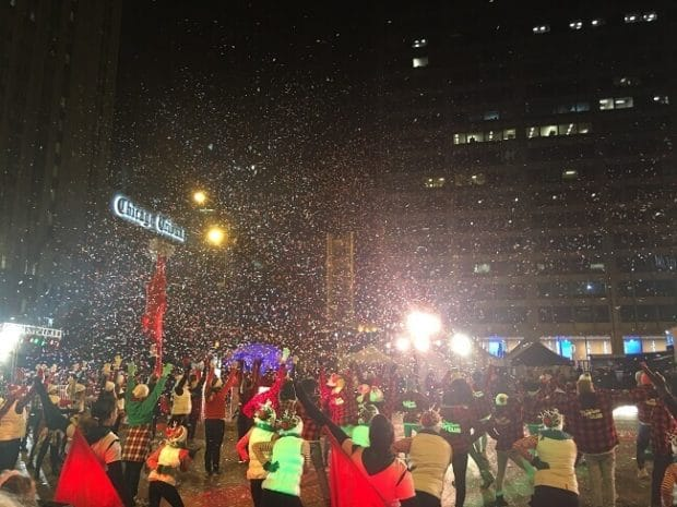 Chicago Festival of Lights Parade Finale