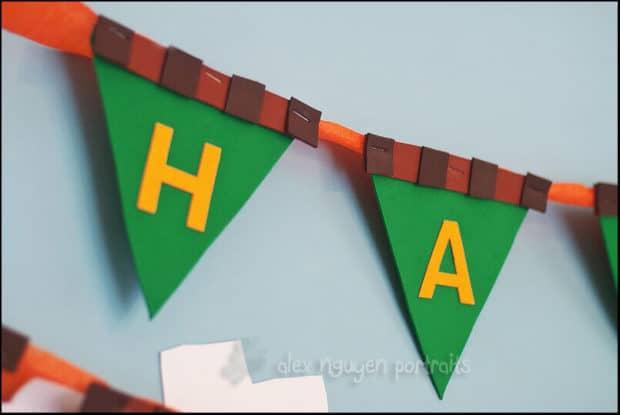 Custom Minecraft Themed Happy Birthday Banner