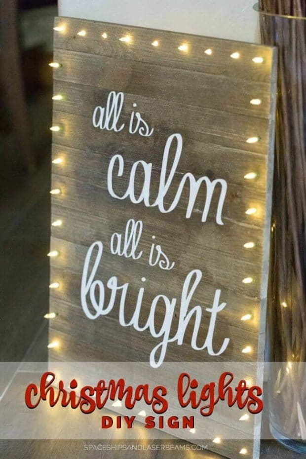 Christmas Lights DIY Board Sign