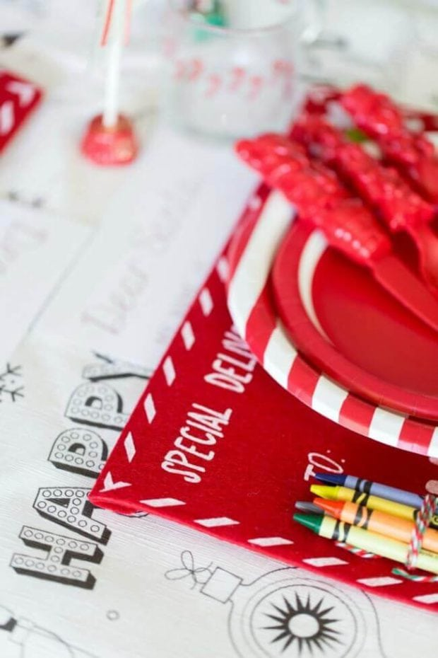 Christmas Kids' Table Decorations
