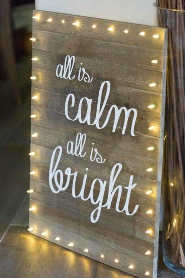 DIY Christmas Light Board Sign