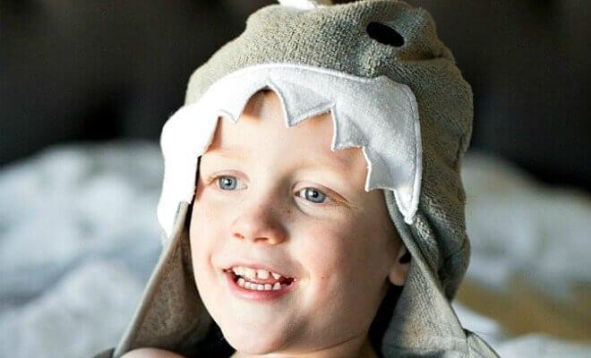 Shark Bath Towel for Boys