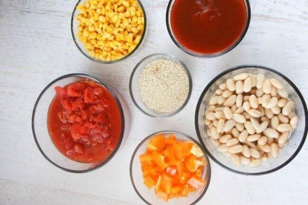 Ingredients for Easy Veggie Tacos