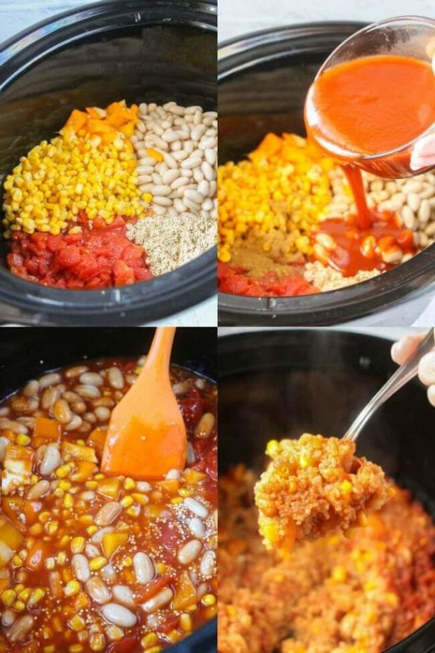 Ingredients for Easy Veggie Tacos in the Slow Cooker