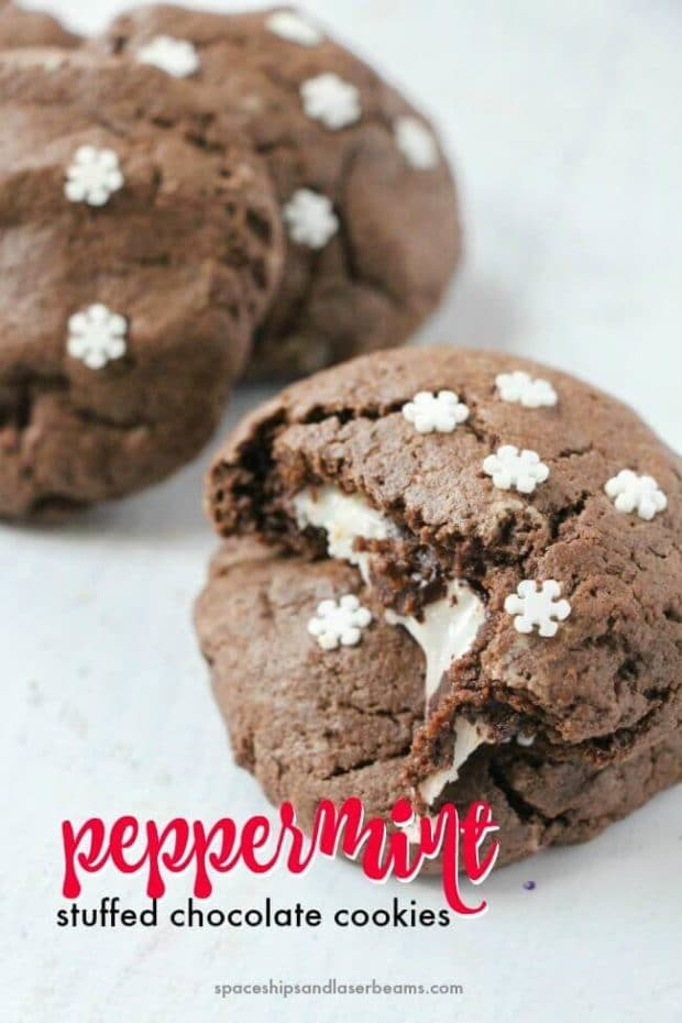 Peppermint Stuffed Chocolate Cookies Spaceships And Laser Beams