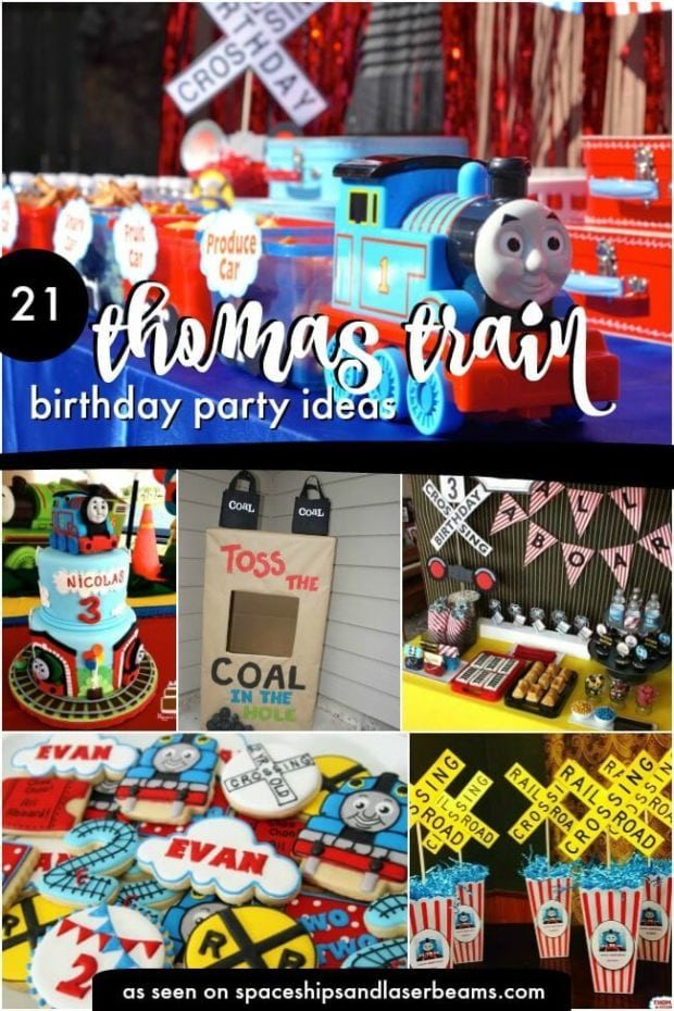 THOMAS  PERSONALISED BIRTHDAY BANNERS x 2 PACK OF TWO