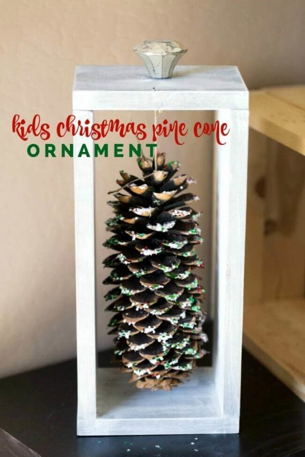 Kid's Christmas Pine Cone Ornament