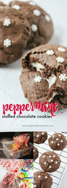 Peppermint Stuffed Chocolate Cookies