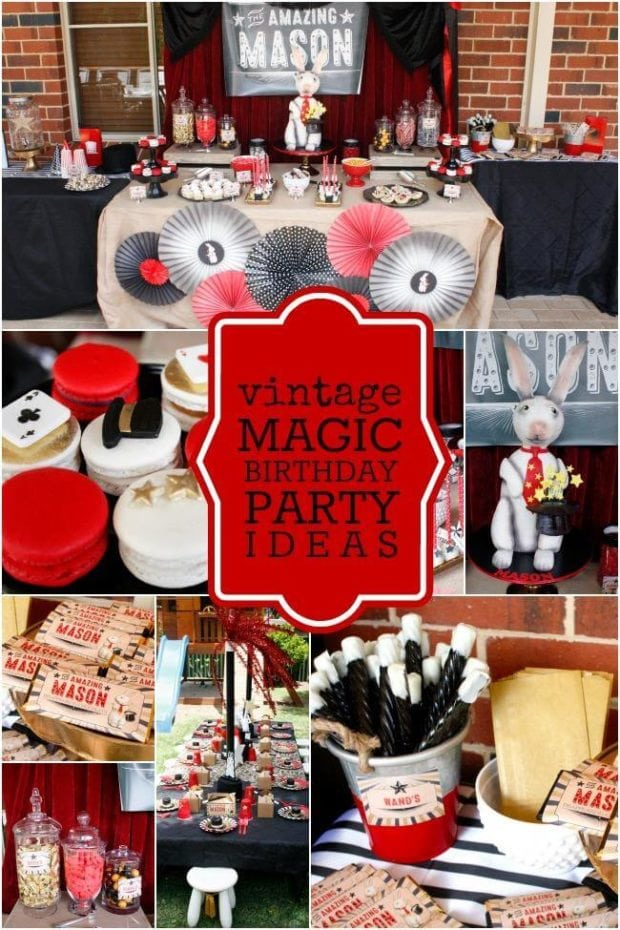 Vintage Magic Birthday Party Ideas for Boys
