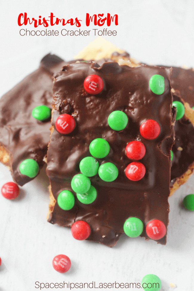 Christmas M&M Cracker Toffee