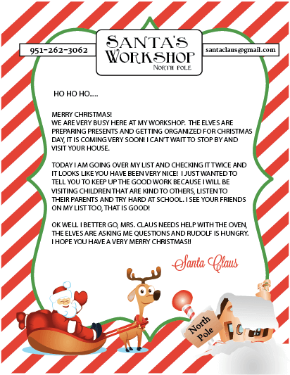 It's just a picture of Handy Santa Letter Templates Free Printable