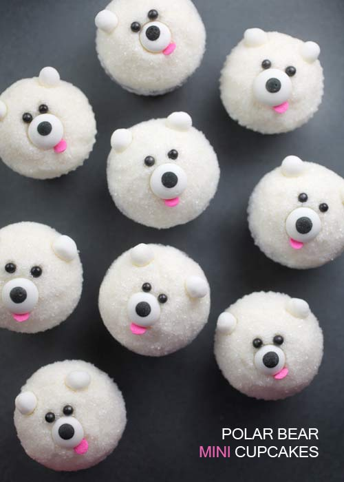 Polar Bear Mini Cupcakes