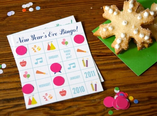New Years Eve Bingo Game
