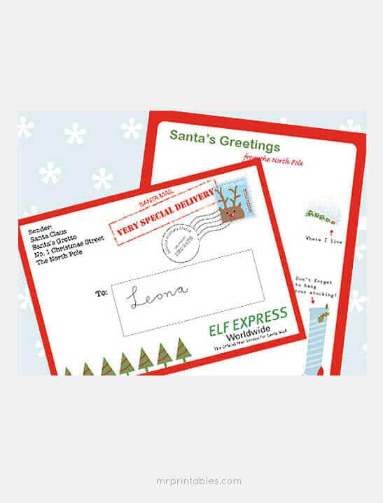 printable christmas envelopes 15 free printable letters from santa templates 2759
