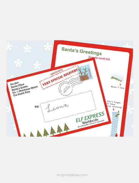 Free Printable Letter to Santa