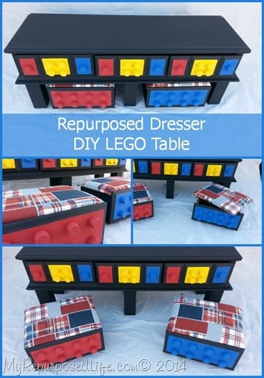Repurposed Dressert LEGO table
