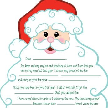 Crush image with regard to printable santa letter